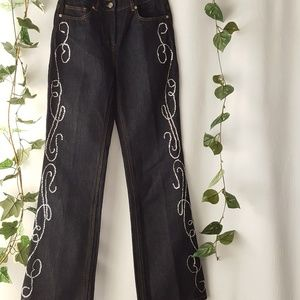 Spiegel bling jeans with silver sequins sz. 6